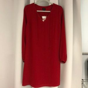 New with tags dark red dress size m